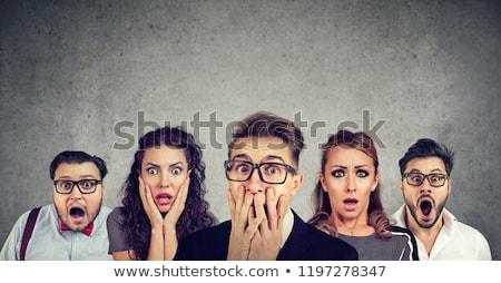 Korkmuş insanlar insan duygular karikatür Stok fotoğraf © rogistok