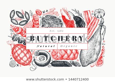 steak · vesepecsenye · hús · étel · pop · art · retro - stock fotó © robuart