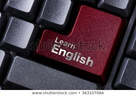 ordinateur · de · bureau · apprendre · anglais · numérique · généré - photo stock © tashatuvango