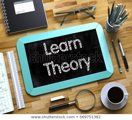 Small Chalkboard with Learn Theory. 3D. Stock photo © tashatuvango