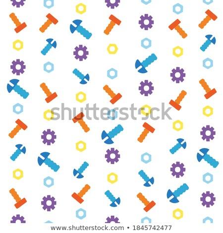 sin · costura · construcción · mano · herramientas · patrón · casa - foto stock © arkadivna