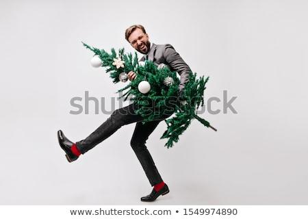 ofis · Noel · parti · vektör · gülen · mutlu - stok fotoğraf © maryvalery