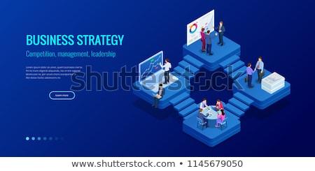 Business Solutions Concept on Laptop Screen. 3d Stock photo © tashatuvango