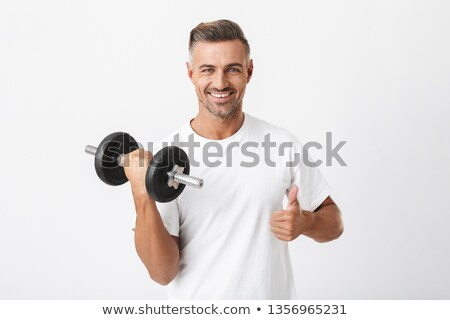 man demonstrating weight exercise Stock photo © IS2