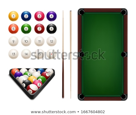 Balls in Billiards table pocket Stock photo © simply