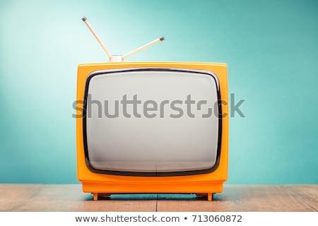 Retro stilisierten Gold Fernsehen Stock foto © milsiart