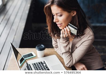 female hands using credit card Stock photo © Lana_M