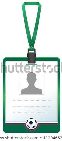 green accreditation badge for soccer sports journalist stock photo © orensila