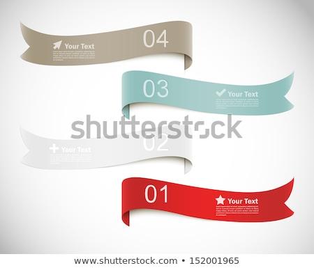 вектора аннотация баннер акварель красный Сток-фото © kostins