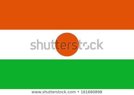 Niger bandiera bianco vernice sfondo arancione Foto d'archivio © butenkow