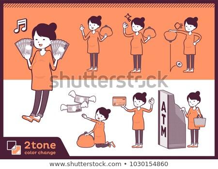 2tone type Pregnant women_set 11 Stock photo © toyotoyo