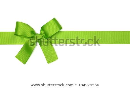zarif · yeşil · yay · doku · dizayn · çapraz - stok fotoğraf © cammep