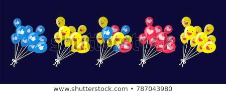 Emoticon hart ballon hartvorm glimlach Stockfoto © yayayoyo