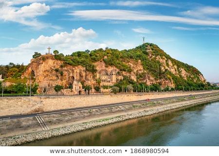 Manastır Budapeşte mağara tepe Macaristan Bina Stok fotoğraf © Givaga