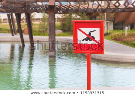swimming is forbidden sign symbol Stock photo © romvo