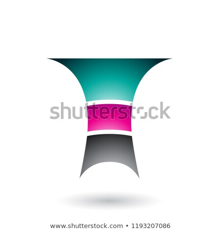 green letter t with three layers vector illustration stock photo © cidepix