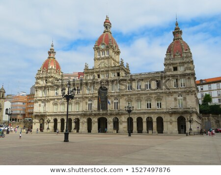 La pita vierkante galicië Spanje stad Stockfoto © lunamarina