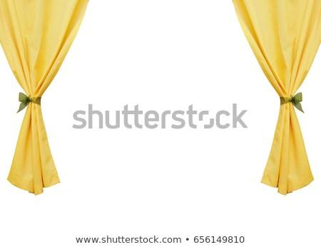 Amarillo cortinas blanco ilustración textura wallpaper Foto stock © colematt