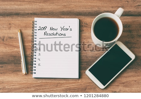 number 2019 and new years resolutions Stock photo © nito