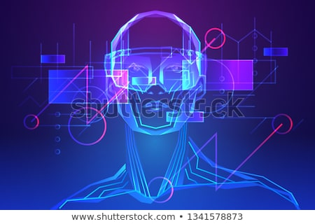Interaktív valóság plakátok szöveg minta emberek Stock fotó © robuart