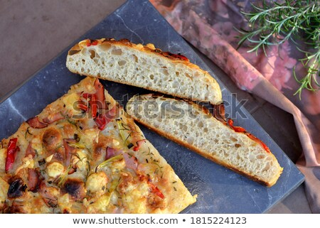 italian focaccia sliced stock photo © antonio-s