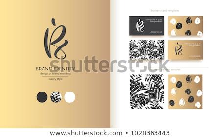 Logo ikon szimbólum fekete logotípus levél Stock fotó © blaskorizov