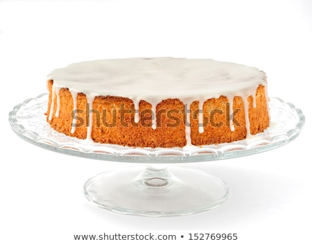Almond cake with sugar glaze Stock photo © YuliyaGontar