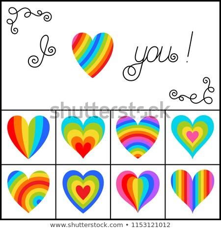 bright multicolor valentine card stock photo © alexaldo