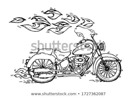 Motocross rider hand drawn outline doodle icon. Stock photo © RAStudio