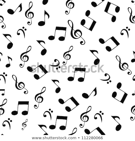 Musical Notes, Seamless Pattern Background Vector Illustration Stock photo © jeff_hobrath
