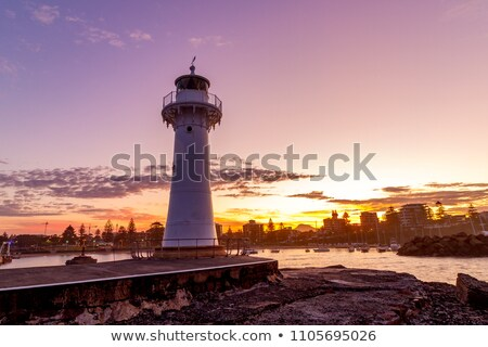 Tenger part reggel fény áll perem Stock fotó © lovleah