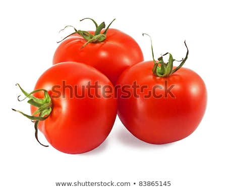 Three red tomatoes with shadow Stock photo © 5xinc
