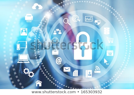 Person presenting office cloud technology concept Stock photo © ra2studio