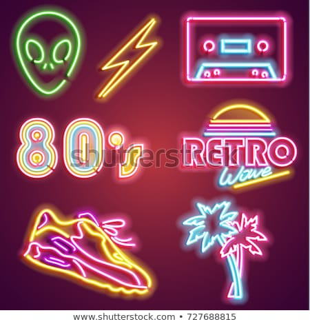80s Sign Neon Label Stock photo © Anna_leni