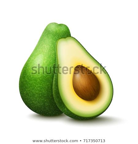 зеленый · зрелый · авокадо · фрукты · изолированный · белый - Сток-фото © netkov1