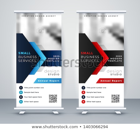modern standee rollup banner for marketing stock photo © sarts