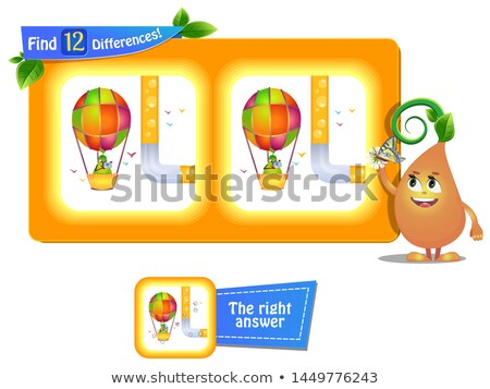 12 differences funny fruit air ball stock photo © olena