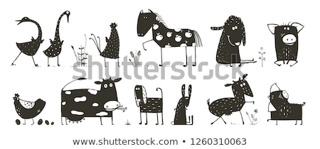 Pet House For Domestic Animal Monochrome Vector Stock photo © pikepicture