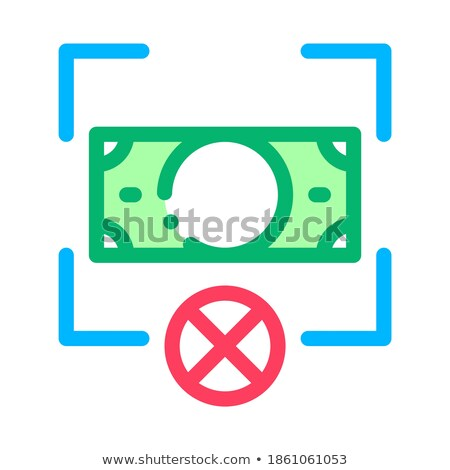 Fake Banknote Orientation Icon Vector Outline Illustration Stock photo © pikepicture