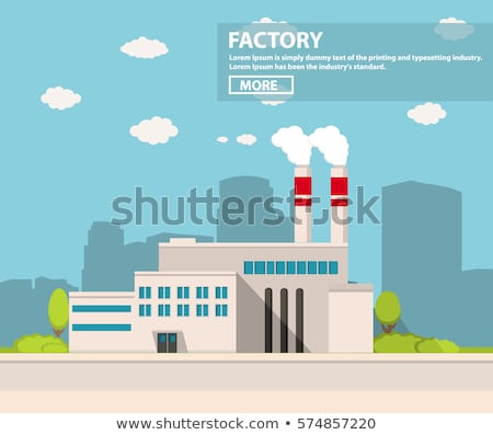 Factory Building Industry in City, Manufacture Stock photo © robuart