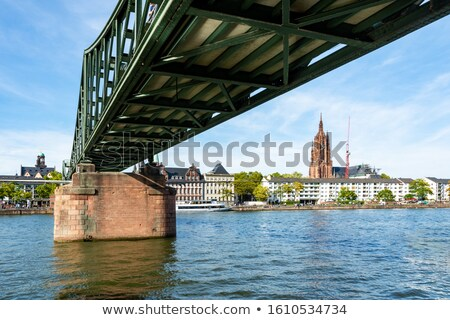 Bridge accross the Main River in Frankfurt Stock photo © manfredxy