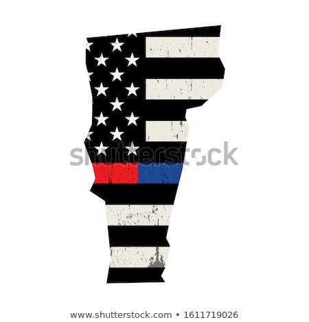 Vermont rendőrség tűzoltó támogatás zászló amerikai zászló Stock fotó © enterlinedesign