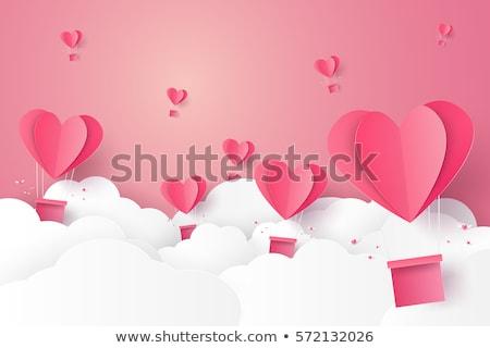Valentijnsdag harten ingesteld patroon Stockfoto © Olena
