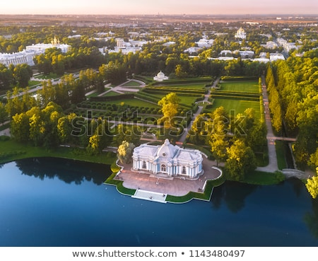 View of the Great Pond in Catherine Park, Russia Stock photo © borisb17