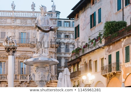 Statue of St Mark's lion at Piazza delle Erbe in Verona, Italy Stock photo © boggy