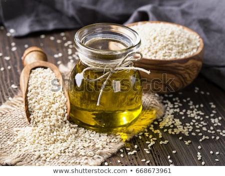 Fles sesam olie kleur plantaardige Stockfoto © Alex9500