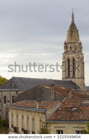 Kerk la Frankrijk hemel bouw Blauw Stockfoto © borisb17