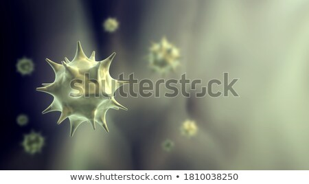 bacteria or virus spreading banner with text space Stock photo © SArts