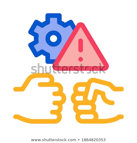 technical dispute icon vector outline illustration Stock photo © pikepicture