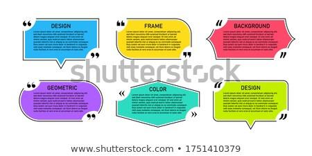 line style geometric quotation box template design Stock photo © SArts
